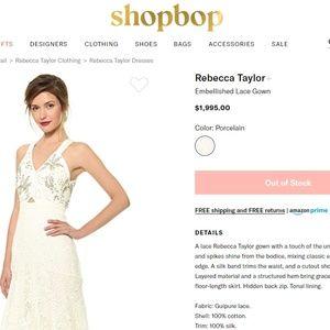 🆕 REBECCA TAYLOR Guipure Lace Jewelled Maxi Dress